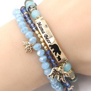 Jewelry - 363-MAMA BEAR- Stretch Bracelet Set